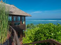 Villa Bidadari Cliffside Estate, View on ocean and Luxury Cabana