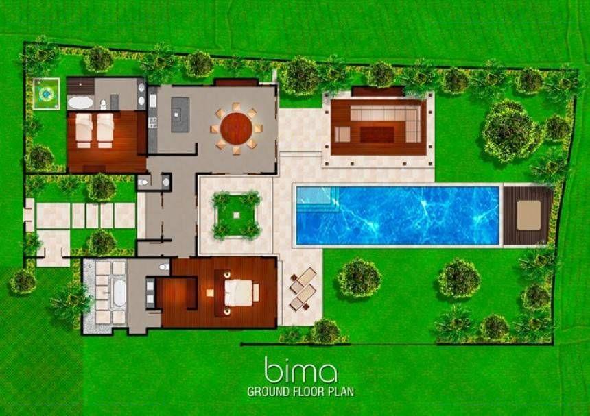 Balinese villa floor plans for Top rated floor plans