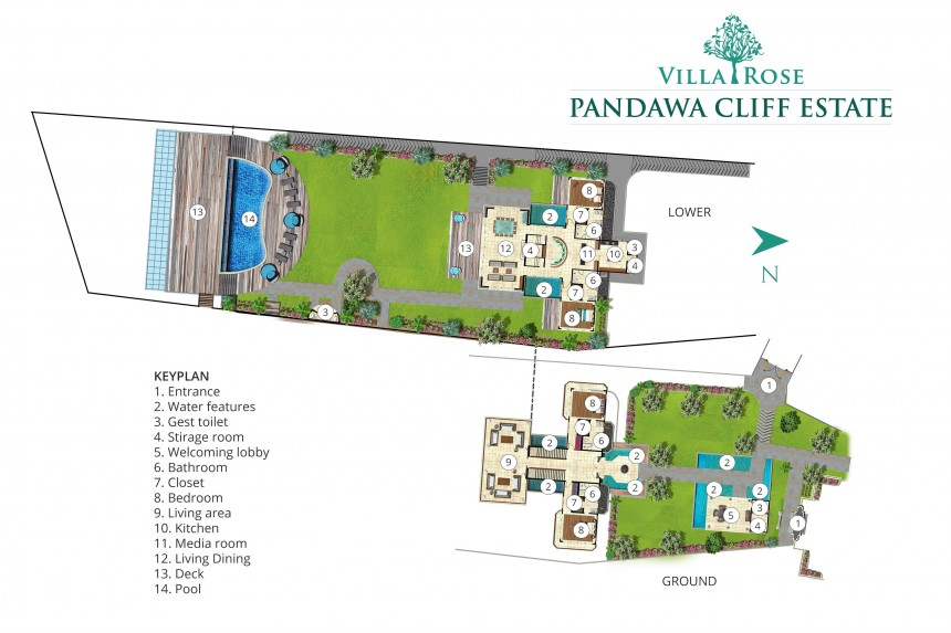 Villa Rose in Pandawa Cliff Estate Floor Plan